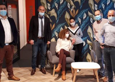 L'équipe de l'agence Ruban Bleu à Saint-Nazaire